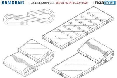 """三星披露翻盖式双折叠手机专利 全面屏可折叠成""""S""""型"""