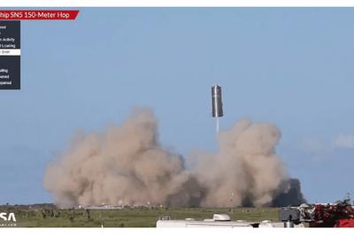 SpaceX星际飞船原型测试成功:飞行高度150米(视频)
