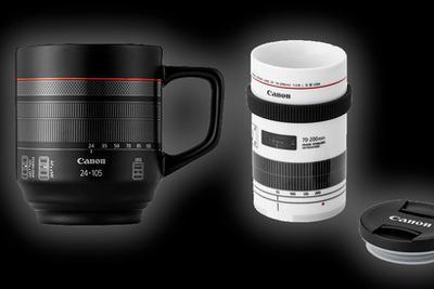 官方玩梗:佳能發布多款鏡頭造型水杯