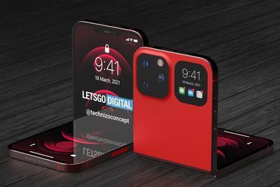 苹果iPhone Flip渲染图曝光!翻盖式设计还带一块副屏