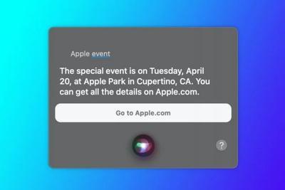 Siri透露苹果计划于4月20日举行发布会:iPad Pro 2021有望亮相