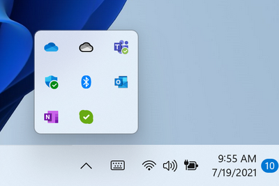 微软Win11 Build 22000.100更新发布:全新任务栏应用提醒