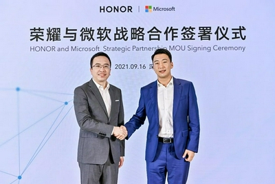 荣耀与微软达成战略合作 将全球首批配置Windows 11