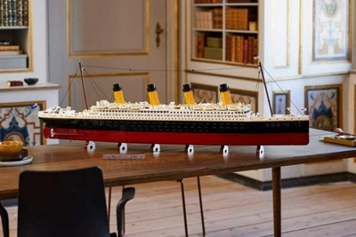 """乐高将推出包含9090块积木的""""泰坦尼克号""""套装"""