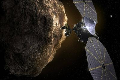 """美国宇航局露西号升空 将飞行12年拜访7颗太阳系早期""""化石""""小行星"""