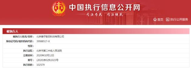 北京锤子数码科技再添被执行人信息,执行标的约10.26万元
