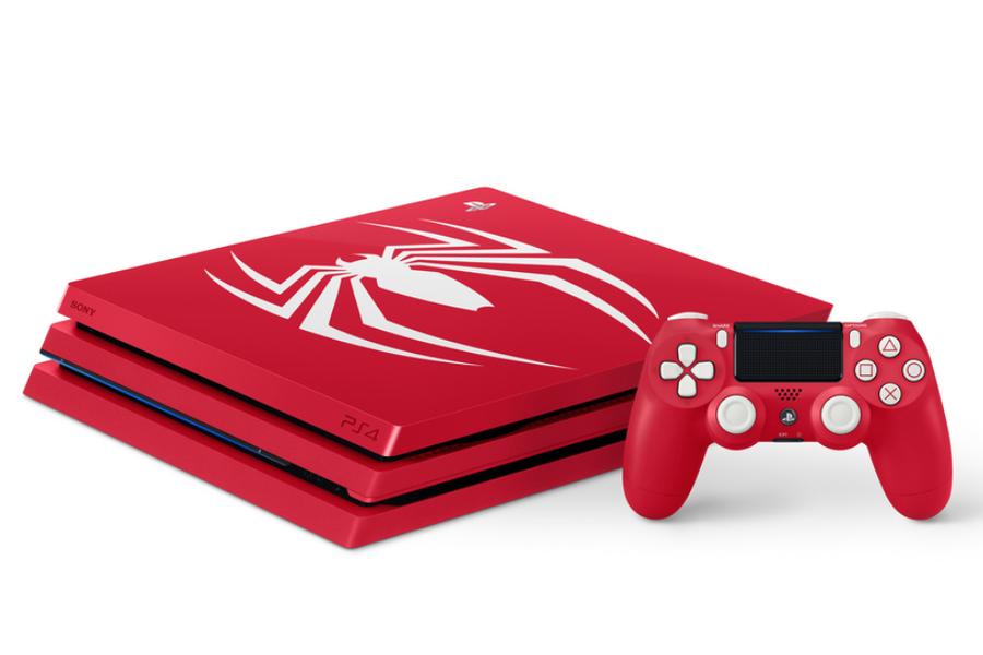 《漫威蜘蛛侠》限定版PS4 Pro开箱 红白配色抢眼