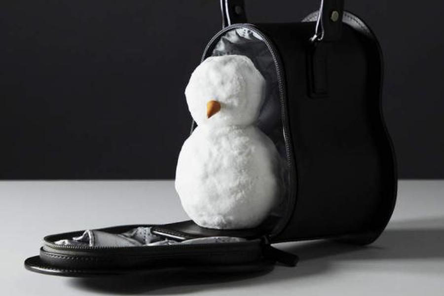 日本一个奢侈皮具品牌 给雪人做了个高档收纳包