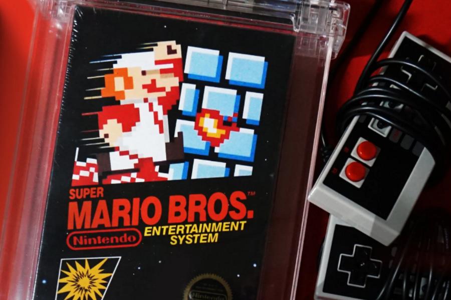 初代《超级马里奥兄弟》游戏卡带卖出200万美元天价