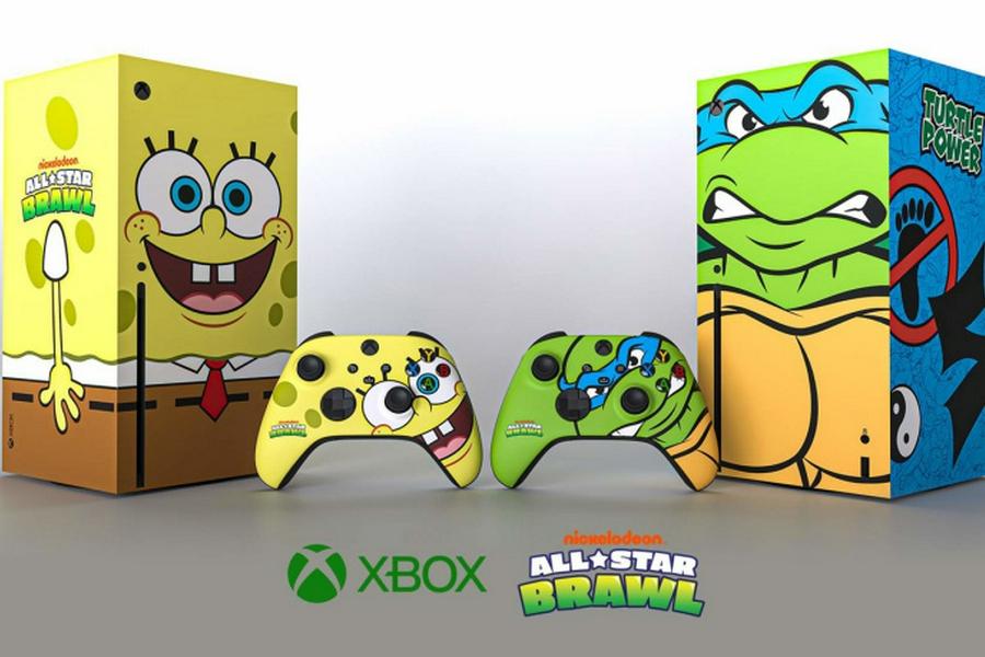 """微软推出""""海绵宝宝""""""""忍者神龟""""Xbox Series X主机与手柄"""