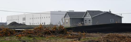 芒特普莱森特村(Mount Pleasant)最后一户人家,一直没和富士康达成协议搬迁(图源:东方IC)