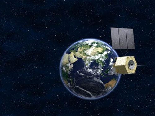 """2016年12月11日,搭载风云四号卫星的运载火箭在西昌卫星发射中心点火升空。图:""""风云四号""""气象卫星"""