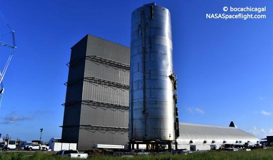 "SpaceX""星际飞船""SN6准备就绪 拟第二次短程飞行测试"
