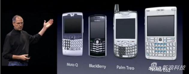 iPhone風靡之前手機的樣子