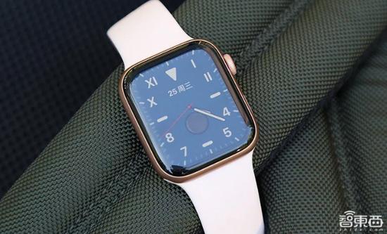 ▲Apple Watch Series 5的基于LTPO的OLED屏