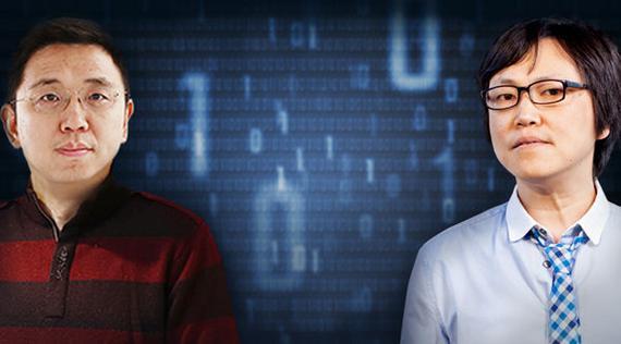 蓝港互动集团创始人王峰(右)对话CSDN创始人蒋涛(左)