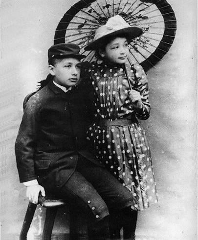 爱因斯坦和妹妹