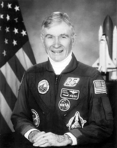 美国历史上服役时间最长的宇航员约翰·扬 图/视觉中国
