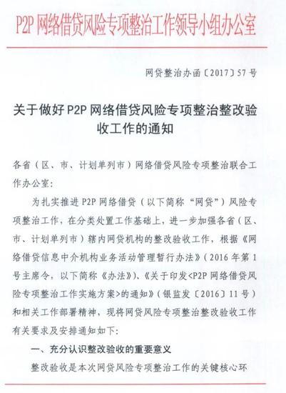P2P备案明年6月底全部完成 不配合整改验收将取缔