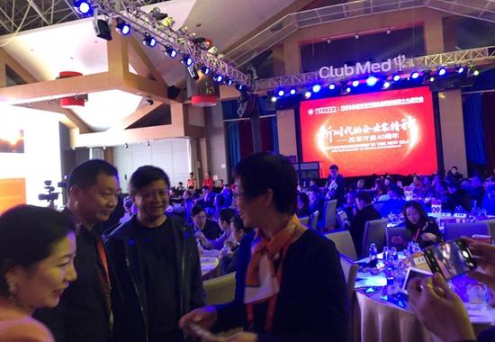 孙宏斌在亚布力论坛讲述了个人经历和对未来经济发展的看法。摄影/钱童心