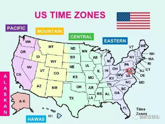 美国共有六个时区