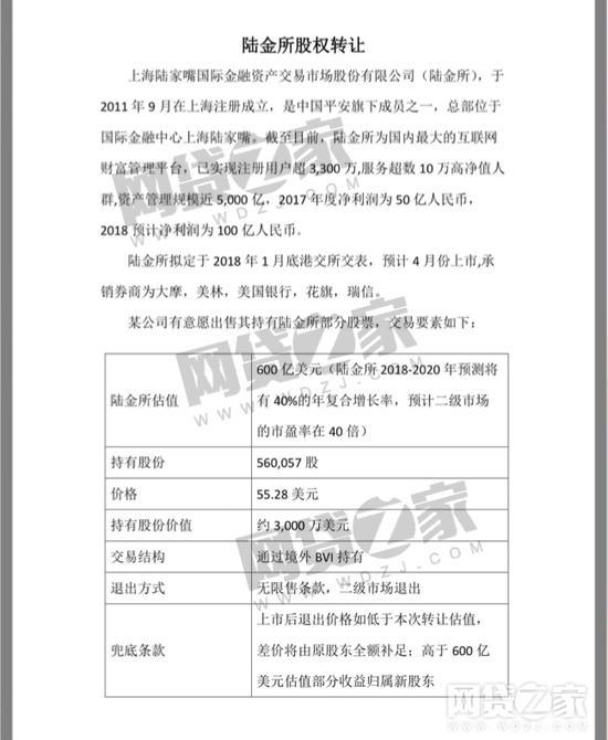 传陆金所将于4月赴香港上市 估值达600亿美元钱学森 友来