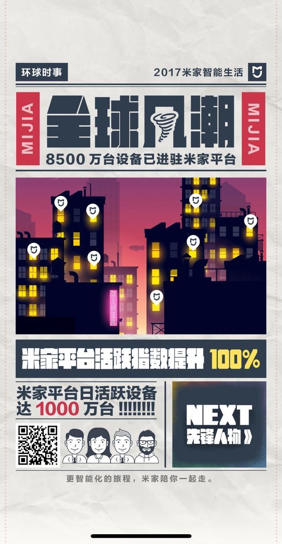 米家App联网设备量超过8500万台