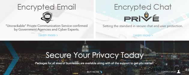 "Phantom Secure的官网 主要卖点就是""隐私加密"""