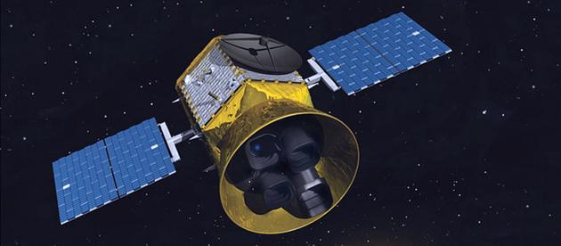 """艺术示意图:正在轨道上工作的凌星系外行星巡天卫星""""(TESS)"""