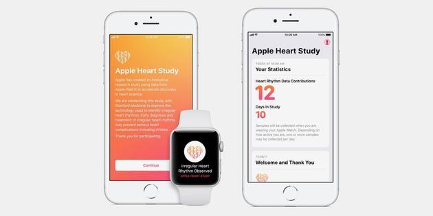 苹果推出心脏研究App 联手斯坦福进行心脏项目研究