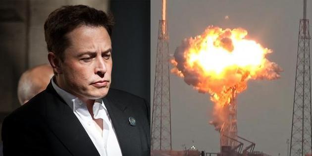 """2016年9月,一枚""""猎鹰9号""""火箭在发射架上发生爆炸,这可能是埃隆·马斯克最不希望看到的情景。"""