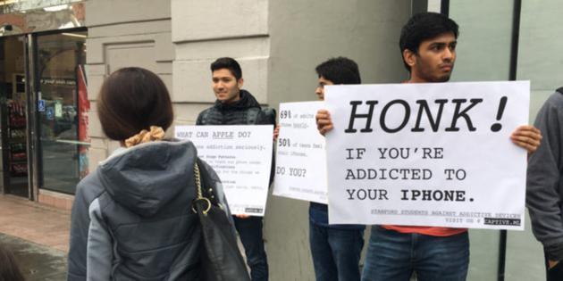 斯坦福学生抗议苹果:呼吁解决手机成瘾问题