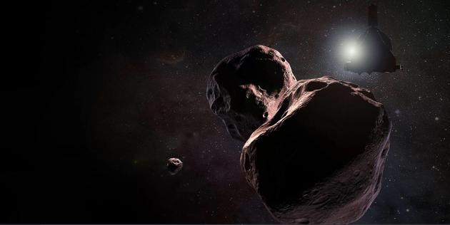 柯伊伯带小天体2014 MU69的艺术示意图,它是新视野号飞船的下一个探测目标