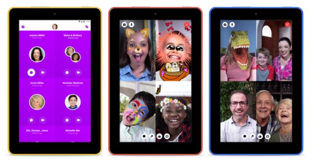 Facebook发布Fire平板版本Messenger Kids应用