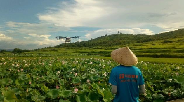 作业中的农田管家入驻飞手