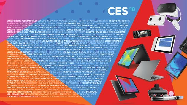 联想获得CES78项大奖