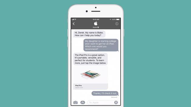 """苹果将推出""""企业聊天""""App:用户与客服可直接交流"""