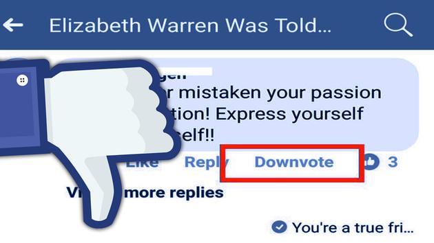 """Facebook正在测试的""""踩""""按钮"""