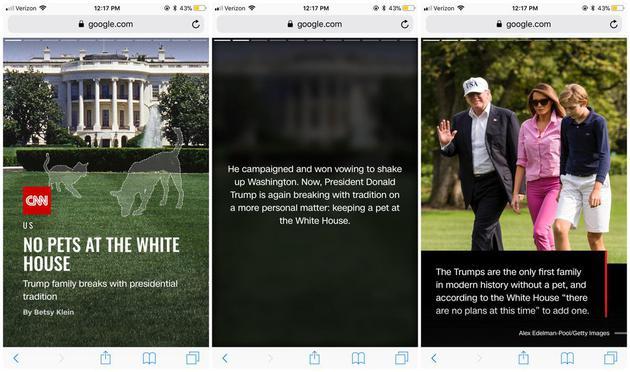 谷歌搜索推出AMP Stories:模仿Snapchat坦荡我心途