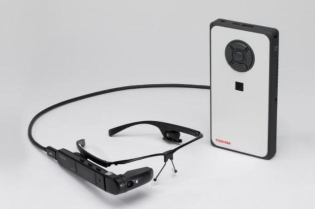 东芝发布分体式智能眼镜