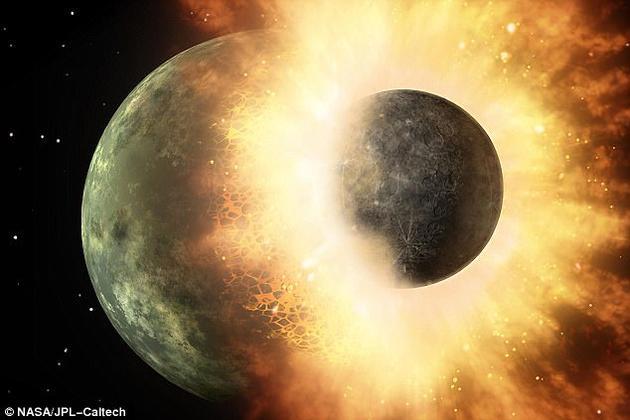 巴黎地球物理研究所研究人员测试了20多亿个组合参数,试图揭晓月球的形成之谜。他们得出结论称,该碰撞事件的关键在于碰撞天体的质量大约是地球质量的十分之一。