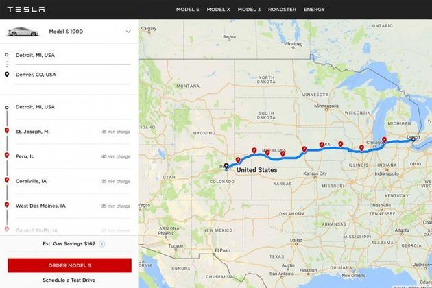 为潜在买家打消疑虑 特斯拉官网推公路旅行规划工具