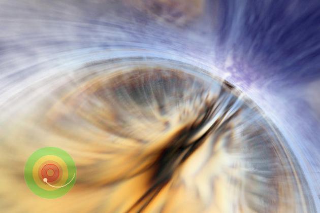物质穿越黑洞事件边界时,黑洞本身波澜不惊。