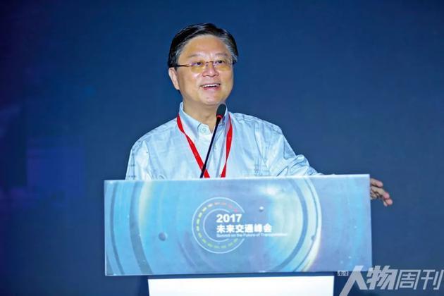 2017年7月,北京,王劲在未来交通峰会上演讲