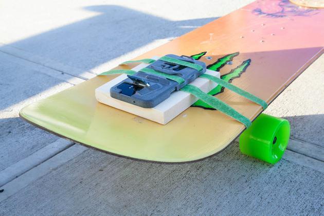 固定在滑板车上