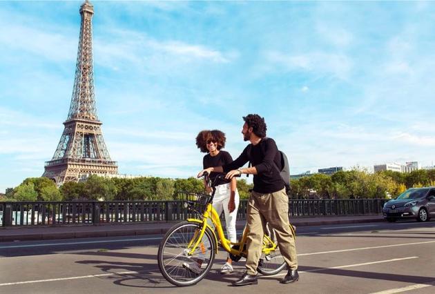 ofo在巴黎,法国也是ofo进入的第20个国家