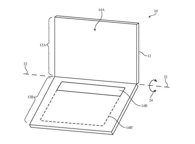 苹果专利中的双显示屏设计