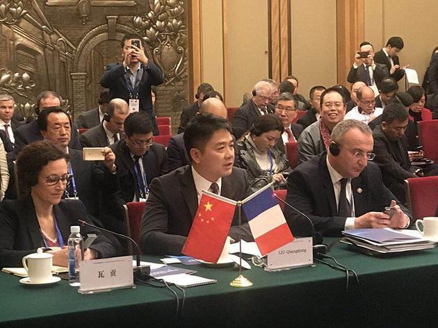 刘强东:京东愿意成为连接中法贸易的新桥梁