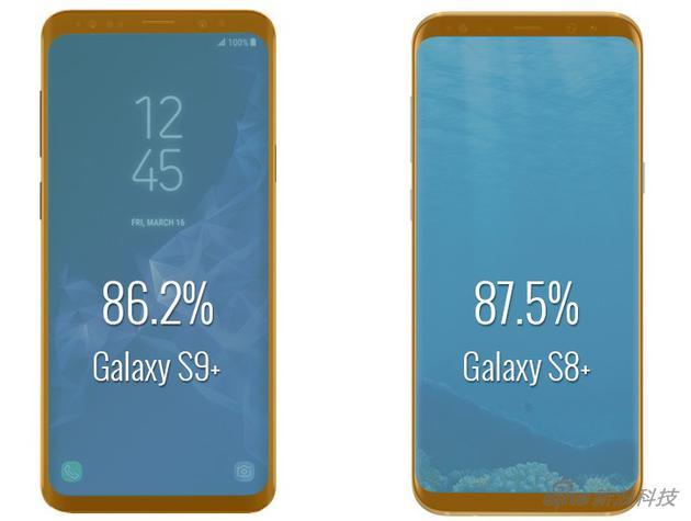 屏幕更大的S9+对比S8+