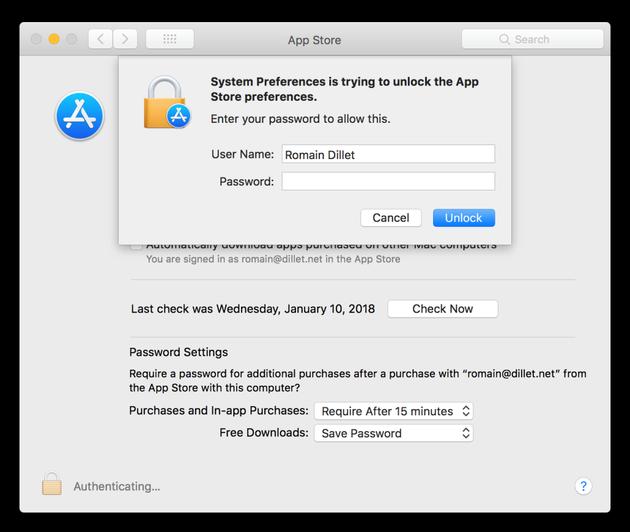 苹果macOS再曝漏洞:输任意密码可进App Store首选项